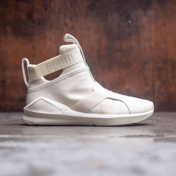 Puma Fierce Strap Hightop Shoes Leather